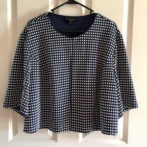 NWT women's perception jacket blouse top 3X blue
